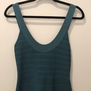 Herve Leger teal midi bandage dress XS